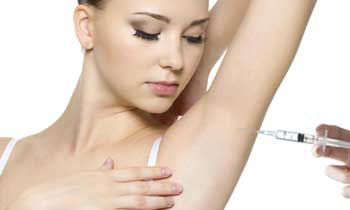 Aplikace botoxu v podpaží
